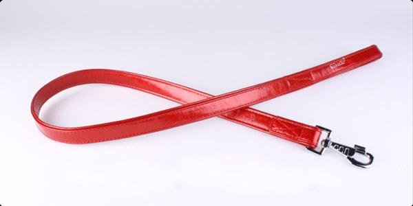 Поводок Коллар (CoLLaR brilliance) лакированная кожа красный