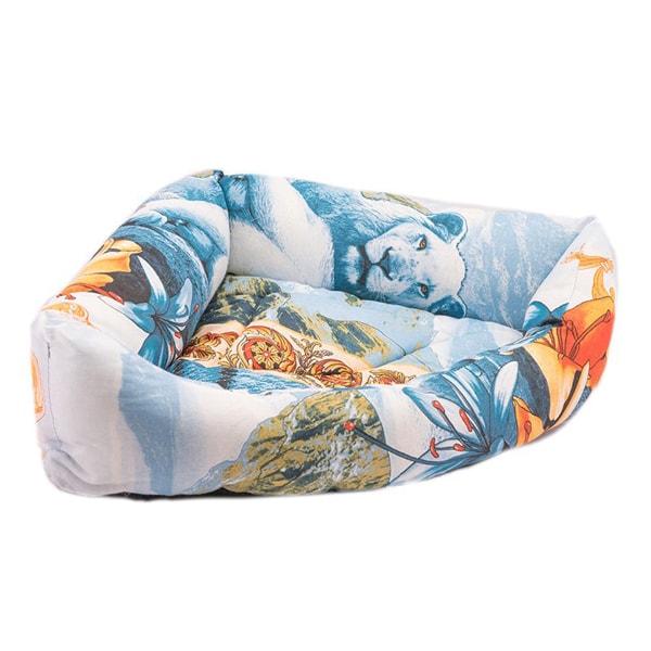 Лежак для кошек и собак Дарэлл угловой бязь