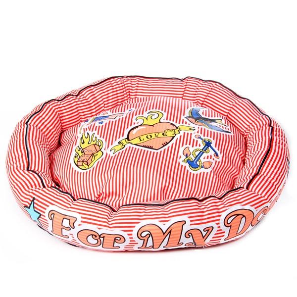 Лежак для собак ForMyDogs красный