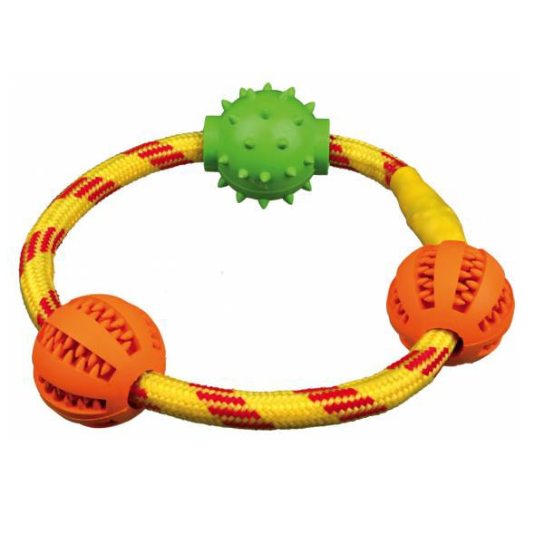 "Игрушка для собак кольцо с мячиками ""Denta Fun"" TRIXIE (Трикси)"