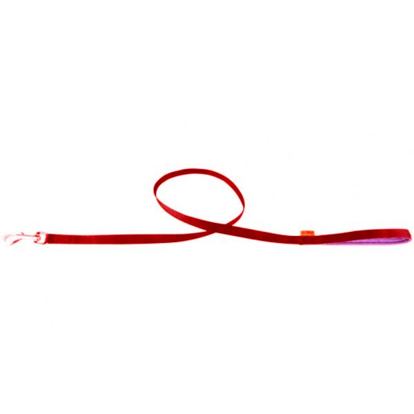 """Поводок-25 Коллар нейлон с прорезанной ручкой """"Dog Extremе"""" красный"""