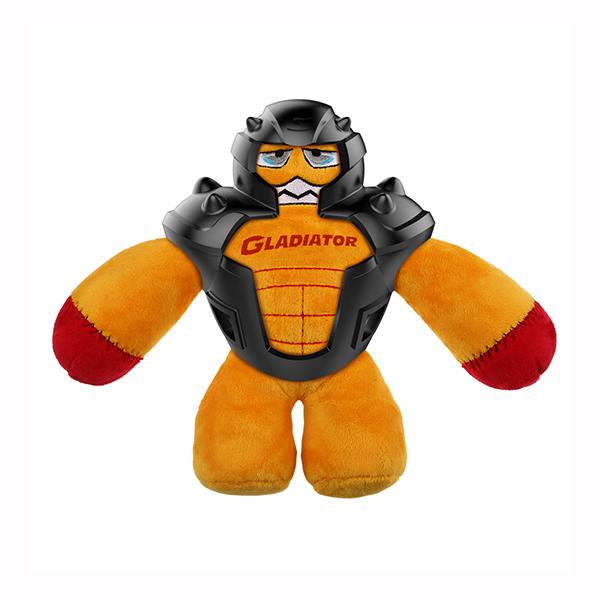Игрушка для собак мягкая GiGwi Gladiator в резиновом шлеме