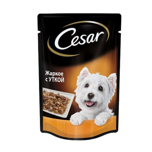 Влажный корм для собак CESAR (Цезарь), жаркое с уткой в желе, 85 гр