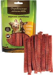 Лакомство для собак Нарезка из говядины для мелких пород Деревенские лакомства