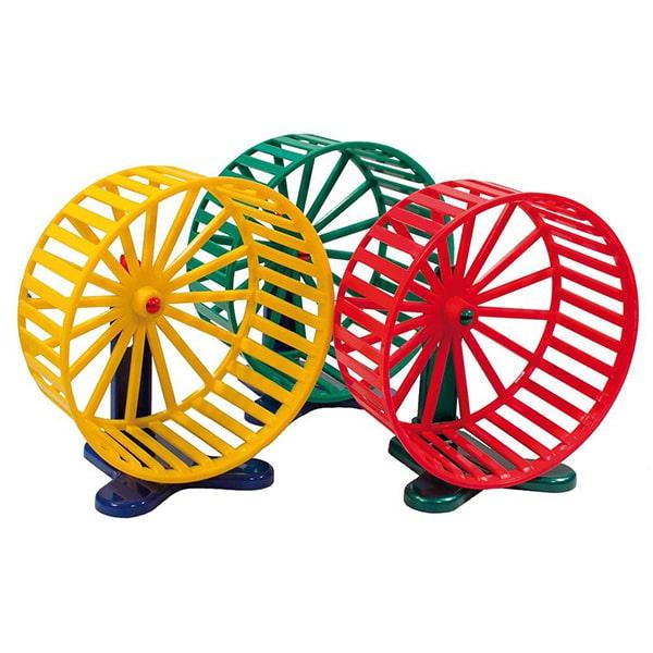 Колесо для грызунов пластиковое на металлической подставке (цвет в ассортименте)