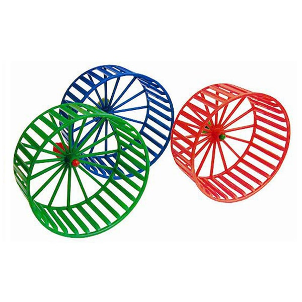 Колесо для грызунов пластиковое (цвет в ассортименте)