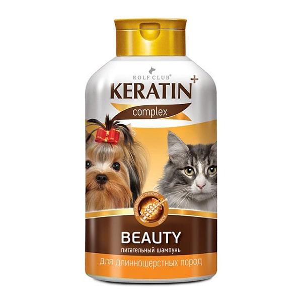 Шампунь для длинношерстных кошек и собак Rolf Club (Рольф Клуб) Keratin+ beautiful  400 мл