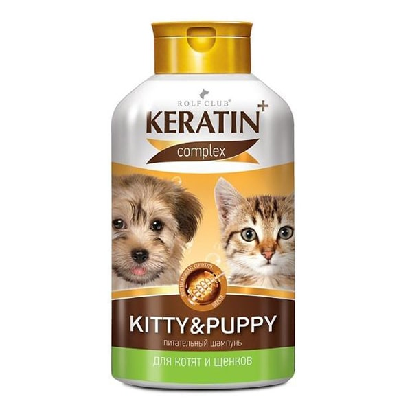 Шампунь для котят и щенков Rolf Club (Рольф Клуб) Keratin+ kitty and puppy  400 мл