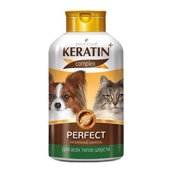 Шампунь для кошек и собак Rolf Club (Рольф Клуб) Keratin+ Perfect 400 мл