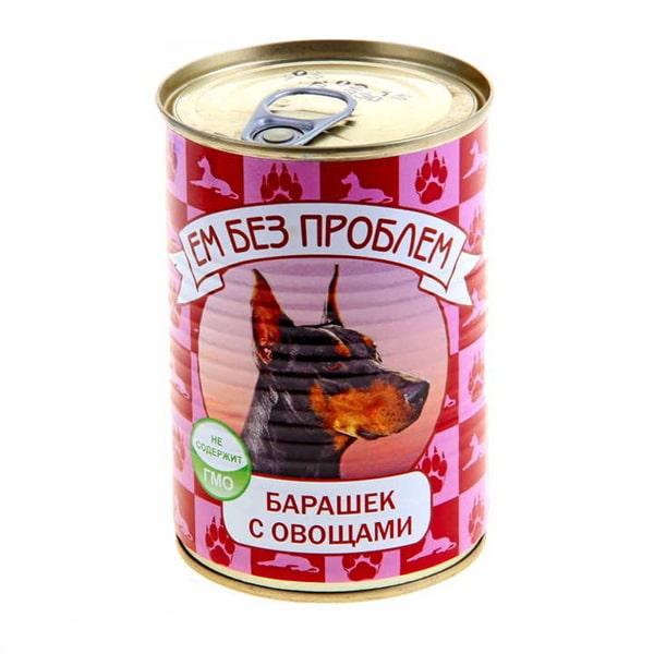 Влажный корм для собак Ем без проблем Барашек с овощами 410г