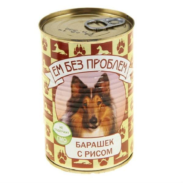 Влажный корм для собак Ем без проблем Барашек с рисом