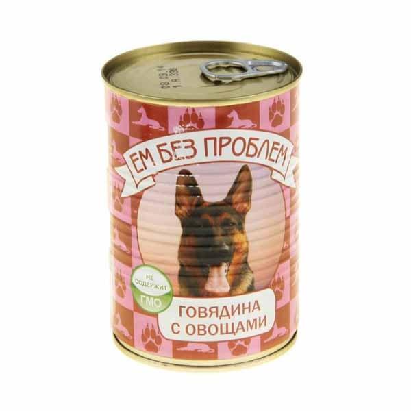 Влажный корм для собак Ем без проблем Говядина с овощами