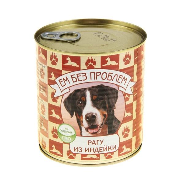 Влажный корм для собак Ем без проблем Рагу из индейки 750г
