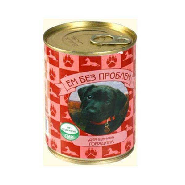 Влажный корм для щенков Ем без проблем, говядина