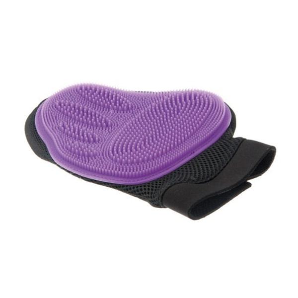 Рукавица для вычесывания шерсти домашних животных V.I.Pet фиолетовая