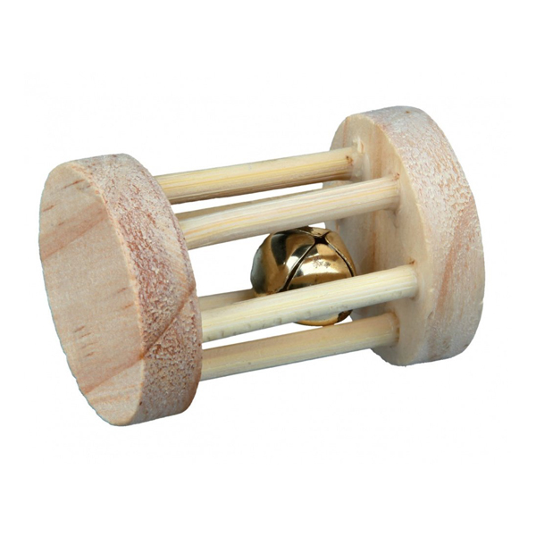 Игрушка для грызунов TRIXIE  Барабан из дерева 3,5см*5см