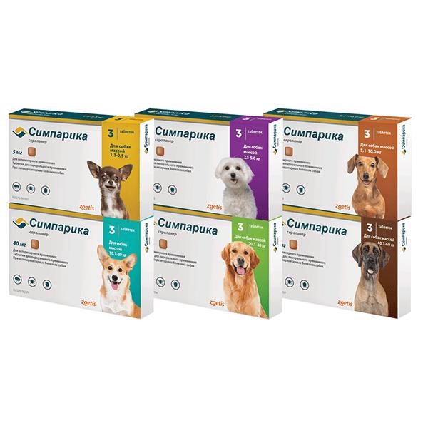 Таблетки для собак от клещей и блох Симпарика №3