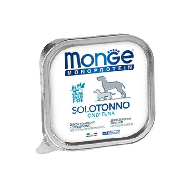 Влажный корм для собак Monge Dog Monoprotein Solo паштет из тунца 150г