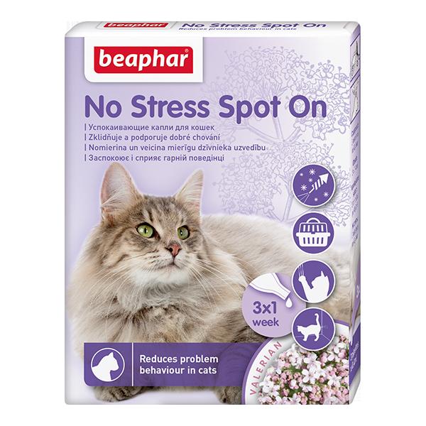 Капли успокаивающие для кошек Беафар No Stress Spot On 3 пипетки