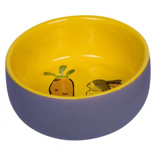 Миска для грызунов Nobby CARROT PLUS 200мл керамика желто-серая