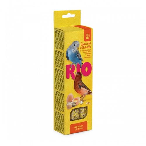 Лакомство РИО палочки для всех видов птиц с яйцом и ракушечником