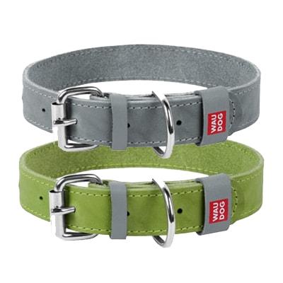 Ошейник для собак Collar (Коллар) Waudog Classic, кожа, металлическая пряжка, ширина 20 мм, длина 30-39 см