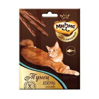 Лакомство для кошек Мнямс Деликатес лакомые палочки 9 см с тунцом 3х4 г