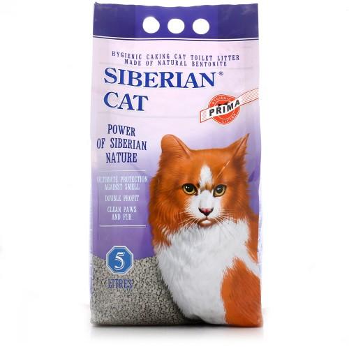 Наполнитель для кошачьего туалета Сибирская Кошка ПРИМА комкующийся 5л