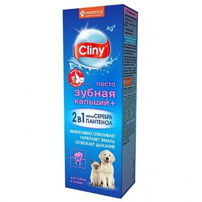 Зубная паста для кошек и собак Cliny 75гр