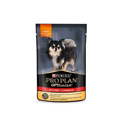Влажный корм для собак миниатюрных пород ProPlan (ПроПлан), с говядиной в соусе, 100 гр