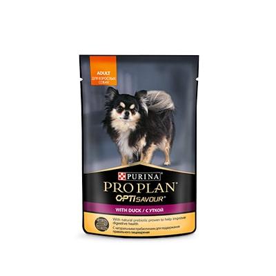 Влажный корм для собак миниатюрных пород ProPlan (ПроПлан), с уткой в соусе, 100 гр
