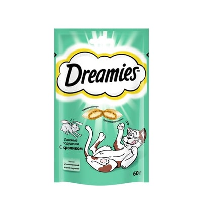 Лакомство для кошек Дримис (DREAMIES) Кролик