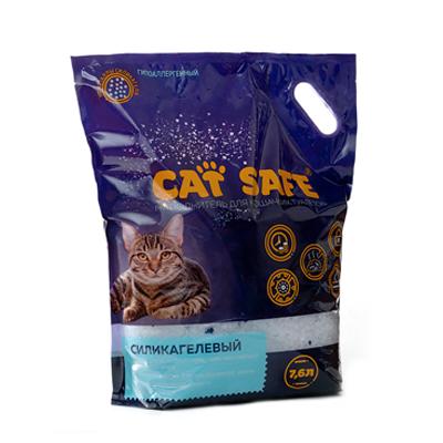 Наполнитель для кошачьего туалета Cat safe силикагель