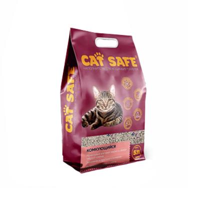 Наполнитель для кошачьего туалета Cat safe комкующийся