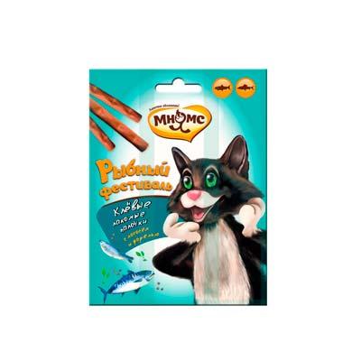 Лакомство для кошек Мнямс Лакомые палочки (Рыбный фестиваль), Лосось и форель
