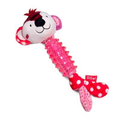 Игрушка для собак GiGwi обезьянка с пищалкой
