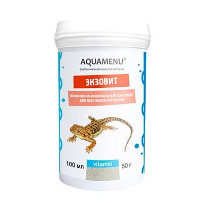 Кормовая добавка для рептилий Aquamenu (АКВА-МЕНЮ) Экзовит, 100 мл