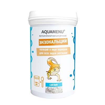 Функциональный корм для рептилий Aquamenu (АКВА-МЕНЮ) Экзокальций, 100 мл