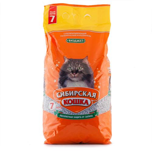 Наполнитель для кошачьего туалета Сибирская Кошка БЮДЖЕТ впитывающий