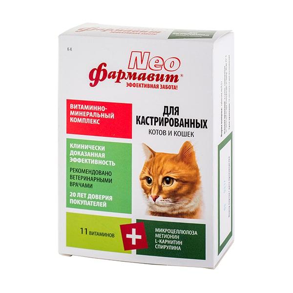 Витамины для кастрированных котов и кошек Фармавит NEO 60 таб