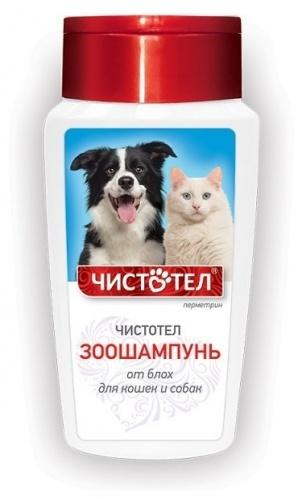 Шампунь для кошек и собак против блох ЧИСТОТЕЛ