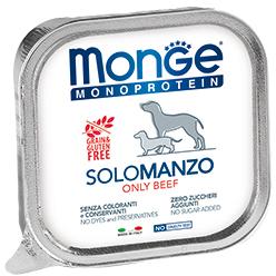Консервы для собак паштет из говядины Monge Dog Monoprotein Solo 150г