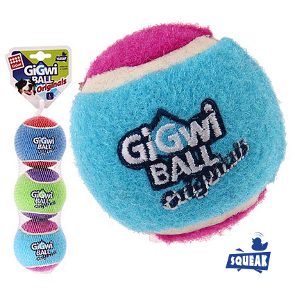 Мяч маленький с пищалкой 3 шт в наборе 4 см Гигви