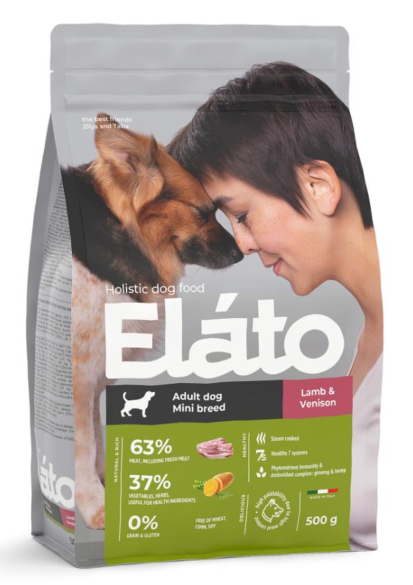 Корм для мелких пород с ягненком и олениной Elato
