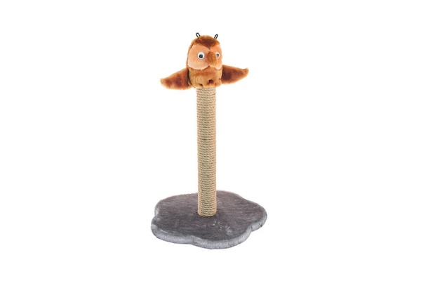 Когтеточка ЧИП столбик с совой (столбик джут)