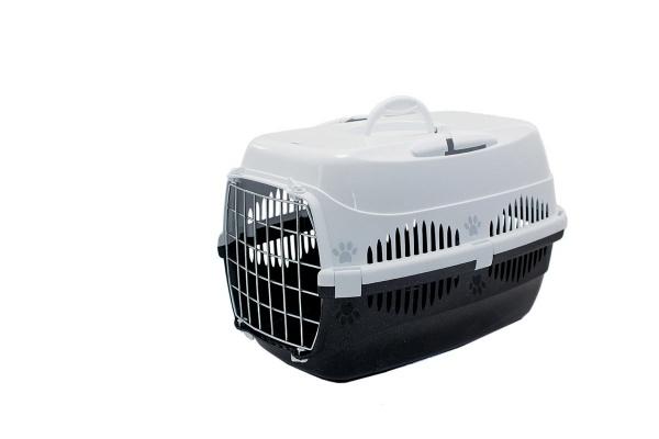 Переноска для кошек спутник zoom 33x49x32 см с металлической дверцей