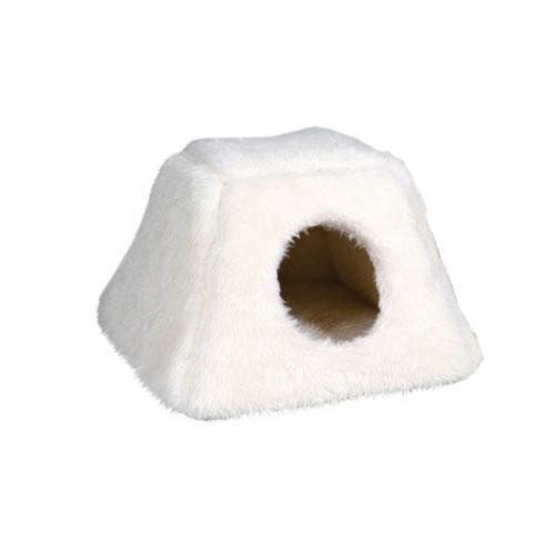 Домик лежак для кошки 42*28*44 белый