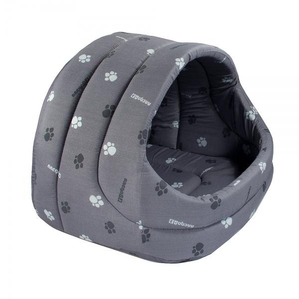 Домик для кошки лукошко поролон серый