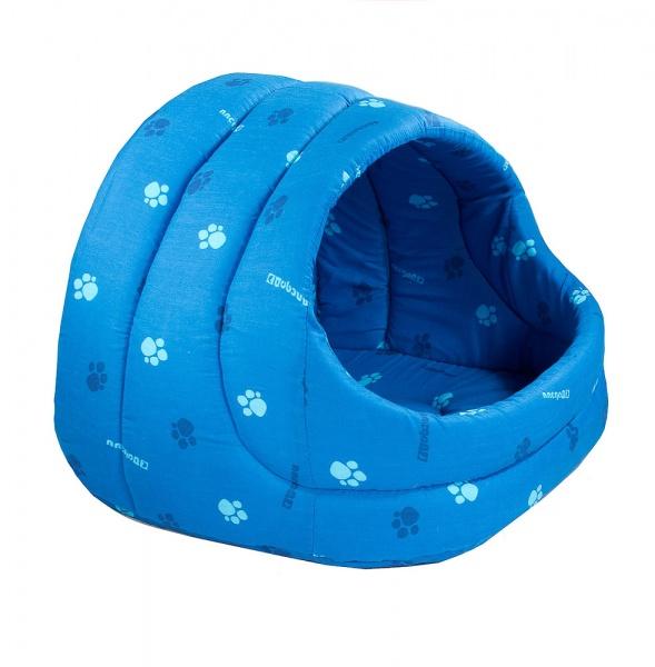 Домик для кошки лукошко поролон синий