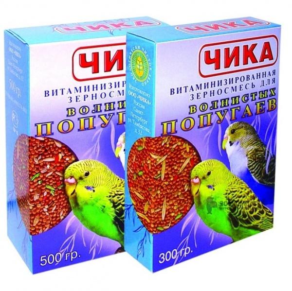 Корм для попугаев ЧИКА без минералов